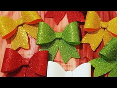 Foam Crafts, Diy Crafts, Background Powerpoint, Xmas Ornaments, Christmas Crafts, Glitter, Homemade, Youtube, Make It Yourself