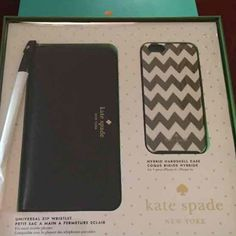 Kate spade gift set wallet and case iPhone 6.6s Nice gift wallet and case for iPhone 6/6s not bundle kate spade Bags Wallets