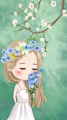 Cute Cartoon Pictures, Cute Cartoon Girl, Cute Love Cartoons, Cartoon Art, Cute Girl Wallpaper, Cute Disney Wallpaper, Cute Wallpaper Backgrounds, Cute Wallpapers, Cute Illustration