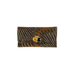 Striking Gold Mary Frances Designer Clutch Handbag (£105) ❤ liked on Polyvore featuring bags, handbags, clutches, chain strap shoulder bag, handbags shoulder bags, crossbody shoulder bags, hand bags and gold clutches