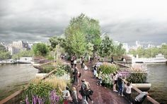 Chelsea Flower Show designer, Dan Pearson, has revealed his designs for the   controversial bridge that is proposed to be built on the Southbank in 2018