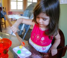 Fine Motor Skills Activity with Tongs - Mess for Less