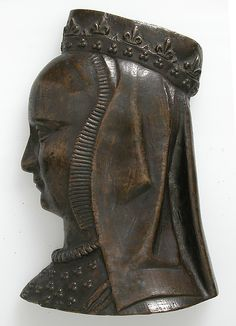 Plaque, Anne of Brittany  Date: 15th century Culture: French Medium: Copper alloy
