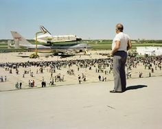 "Joel Sternfeld, The Space Shuttle Columbia Lands at Kelly Lackland Air Force Base, San Antonio, Texas, March 1979 (1979) Saw this but in abt. ""89"""