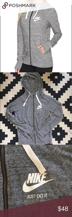 Nike Women's Gym Vintage Full Zip Hoodie Small great condition, only worn a few times. light grey. Nike Other