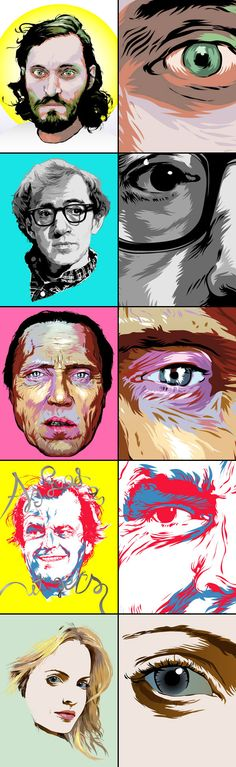 VECTOR MOVIE POSTERS by Grzegorz Domaradzki, via Behance
