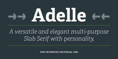Adelle —webfont too