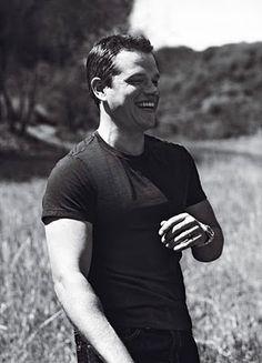 Jason Bourne, I mean Matt Damon. Logan Lerman, Shia Labeouf, Amanda Seyfried, Matt Damon Jason Bourne, Beautiful Men, Beautiful People, Guys And Dolls, Star Wars, Portraits