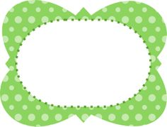 dots green groene gedachte Borders And Frames, Borders For Paper, Princesa Tiana, Frame Layout, Printable Frames, Blank Labels, Frame Clipart, Binder Covers, Planner