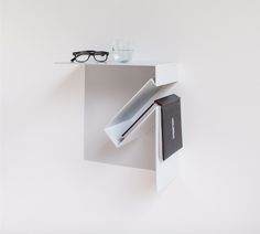 Oblique night stand for Biennale Interieur Kortrijk 2014