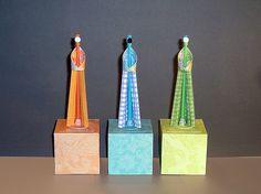 https://flic.kr/p/6qEeHQ | Susie's Wise Men | My latest paper sculpture, Los Reyes Magos.