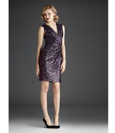 Aubergine Short Dress