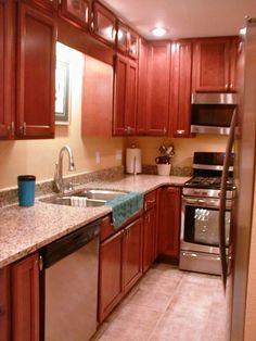 burnished chestnut kraft maid kitchen