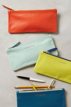 Tote anything you need in these Parisienne pencil cases.