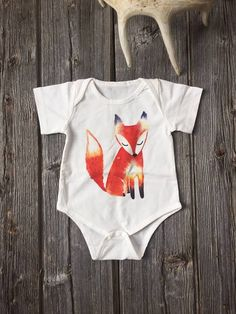 Fox Print Baby/Infant Onesie
