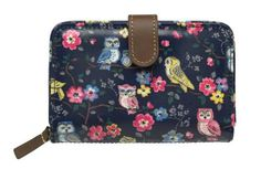 Cath Kidston Mini Owls and Flowers folded zip wallet