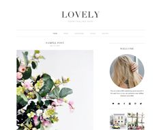 Responsive Wordpress Theme- Lovely by Bloom Blog Shop on Creative Market