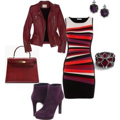 A fashion look from October 2012 featuring Karen Millen dresses, IRO jackets and Alexander McQueen ankle booties. Browse and shop related looks.