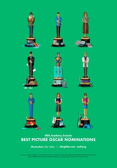 My illustration of all the Oscars Best Picture nominees 2018 Oscars, Movies Showing, Movies And Tv Shows, Oscar Best Picture Nominees, Missouri Birds, Academy Awards Best Picture, Award Poster, Oscar 2017, Oscar Movies