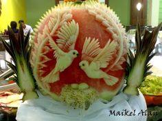 ♛ Lesson 65 - Pumpkin Carving, escultura em frutas, Garnish food, การแกะสลักผลไม้, 水果雕刻, Ukiran buah - YouTube