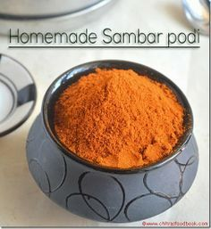 HOMEMADE SAMBAR POWDER RECIPE|SAMBAR PODI-2 VERSIONS Garam Masala Powder Recipe, Masala Sauce, Masala Recipe, Chaat Masala, Biryani Recipe, Sambhar Recipe, Podi Recipe, Homemade Spices, Homemade Seasonings