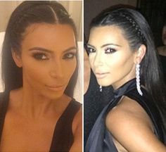 Kim Kardashian's Braided Headband In Ibiza -- Love