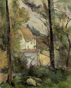 Paul Cézanne (1839-1906) - Maison dans les arbres, Auvers, 1879, huile sur toile, 92,5 cm x 73 cm Source : http://www.impressionism-art.org/
