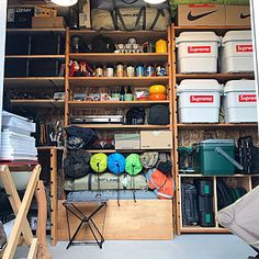 Shed Storage, Garage Storage, Camping Style, Man Room, Love Home, Garage Organization, House Rooms, Home Goods, Man Shed