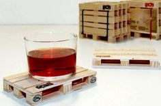 Pallet coasters made out of Popsicle sticks - video tutorial