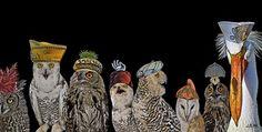 """Saatchi Art Artist Joeann Edmonds-Matthew; Photography, """"OWLS WITH HATS"""" #art"""