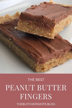 dessert bars The BEST peanut butter fingers (bars) you will ever eat! An easy dessert that everyone will love! Peanut butter oatmeal bottom with creamy chocolate frosting makes the most yummy treat ever! Peanut Butter Oatmeal Bars, Best Peanut Butter, Peanut Butter Recipes, Nutella Peanut Butter, Brownies With Peanut Butter, Peanut Butter Slice, Peanut Butter Squares, Dessert Simple, Chocolate Treats