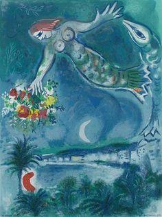 Marc Chagall, Siren & Fish, 1957.