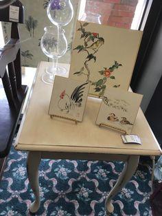 Cream Painted Side Table - Columbus SKU 3SX5E3 - $66.00