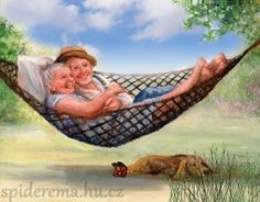 illustration de dianne dengel - Page 3 Vieux Couples, Old Couples, Animiertes Gif, Grow Old With Me, Growing Old Together, Old Folks, The Golden Years, Grandma And Grandpa, Getting Old