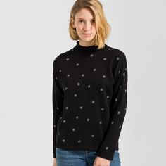 Riley Dots ($64) ❤ liked on Polyvore featuring tops, pullover top, polka dot top, dot top and sweater pullover