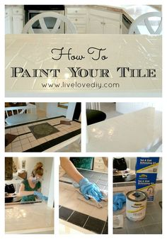 LiveLoveDIY: How To Paint Tile Countertops This.