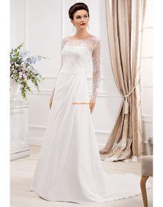 61ec791adf9b Taft Krajka Přírodní Svatební šaty 2014 Elegant Wedding Gowns