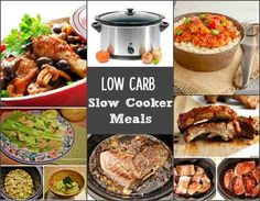 Low carb slow cooker meals are a large collection of low carb recipes made in the crock pot. Tasty recipes that are gluten free and low carb.
