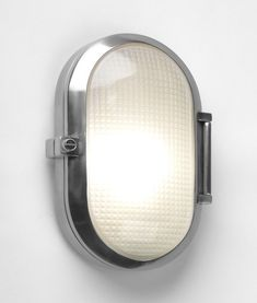 Smooth Oval Industrial Style Exterior Wall Light - IP65 Rated