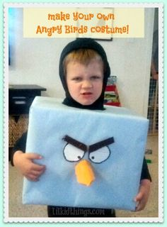 Make your own Angry Birds costume {with bonus King Pig}!