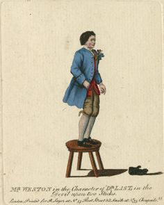 Mr Weston in the character of Dr Last in Samuel Foote's the Devil Upon Two Sticks. The Folger Library