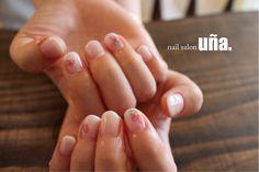 白グラデーションたらしこみネイル福岡のネイルサロンウーニャnailsalonuna #nail#nailart#gradation#fukuoka