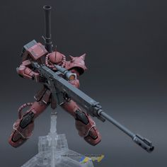 "MODELER: Billy Ray Estrada  MODEL TITLE:  Char's Zaku II ""Gundam The Origin Ver.""  MODIFICATION TYPE: custom paint job, custom details, cust..."