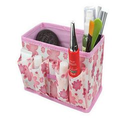 2017 New Makeup Cosmetic Storage Box Bag Bright Organiser Foldable Stationary Container, High Quality Women Make up Bag