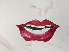 Taylor swift lips painting as seen in her Style music video by WaterPhysics