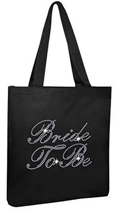 Black Luxury Rhinestone Crystal Bride Tote bag Bridal Shower wedding party gift bag