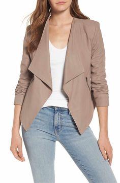 Main Image - BB Dakota Brycen Leather Drape Front Jacket