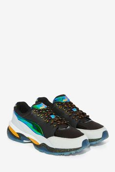 Puma x McQ Tech Runner Lo Textured Sneaker - Shoes | Flats