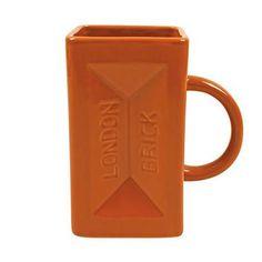 London Brick Shaped Mug Ceramic Coffee Tea Cup Builder Novety Retro Gift Dad