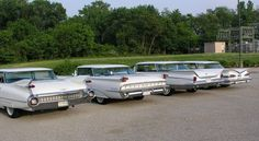 59 GM Flat-tops: Cadillac, Olds, Buick & Chev. all white.